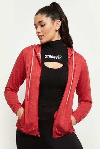 MAX Solid Hooded Sports Sweatshirt