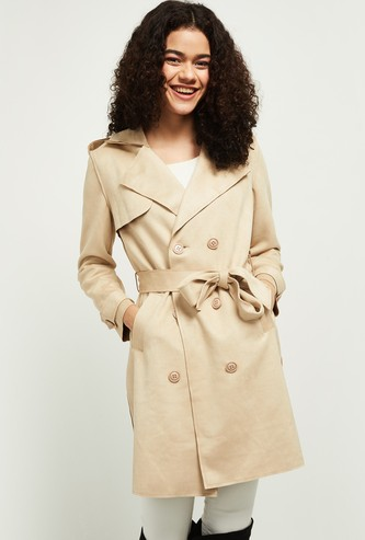 MAX Solid Longline Casual Jacket