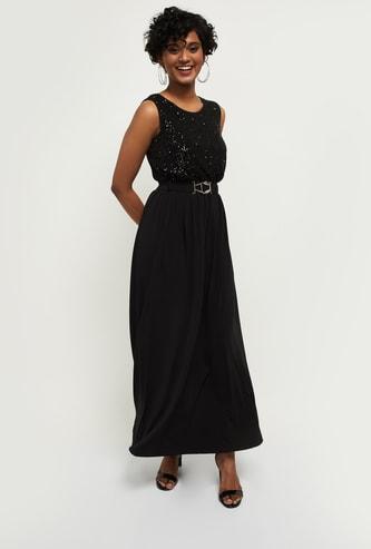 MAX Sequin Embellished Maxi Dress