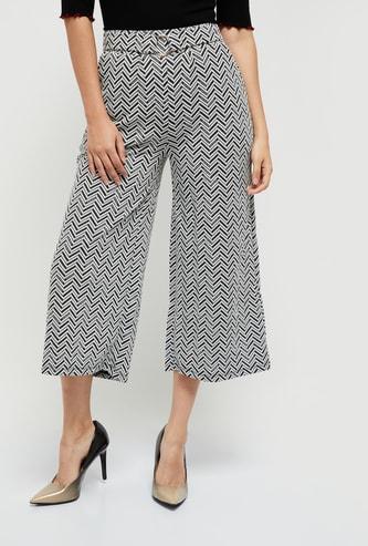MAX Printed Elasticated Waist Culottes