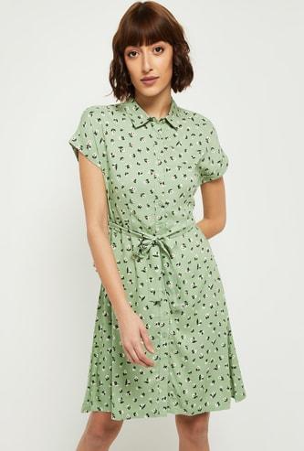 MAX Floral Printed Shirt Dress