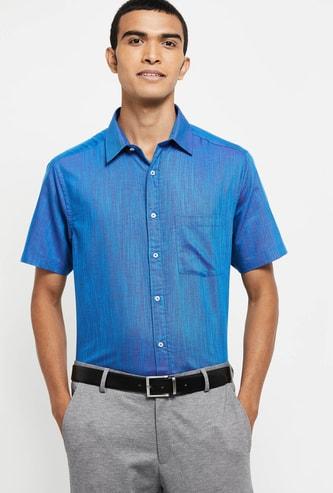 MAX Textured Slim Fit Formal Shirt