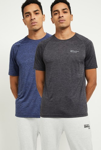 MAX Textured Crew Neck T-shirt- Pack of 2
