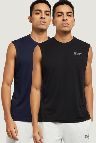MAX Solid Sleeveless T-shirt - Set of 2