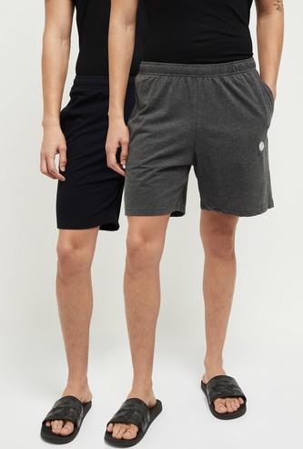 MAX Solid Elasticated Waist Lounge Shorts - Pack Of 2