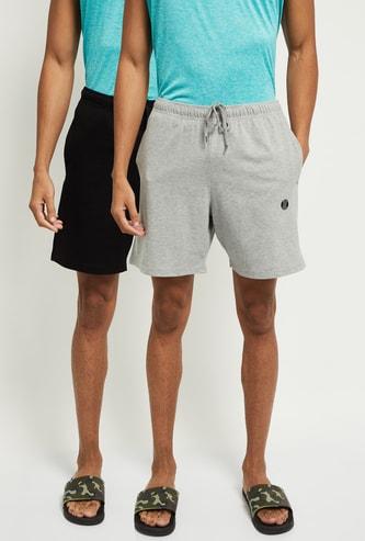 MAX Solid Drawstring Waist Shorts - Set of 2