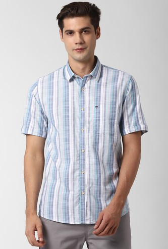 PETER ENGLAND Striped Slim Fit Casual Shirt