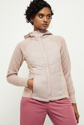 MAX Solid Hooded Quilted Jacket
