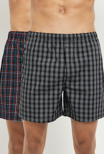 MAX Checked Boxers - Set Of 2