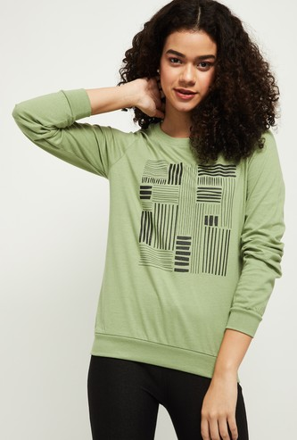 MAX Chest Print Round Neck T-shirt