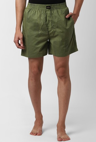 PETER ENGLAND Striped Elasticated Boxer Shorts