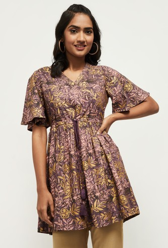MAX Printed Flutter Sleeves Tunic