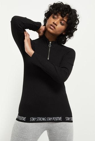 MAX Knitted Zipper T-shirt