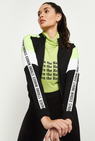MAX Colourblocked Full Sleeve Knit Jacket