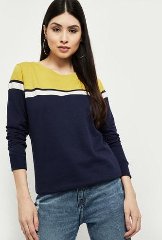 MAX Colourblock Round Neck T-shirt