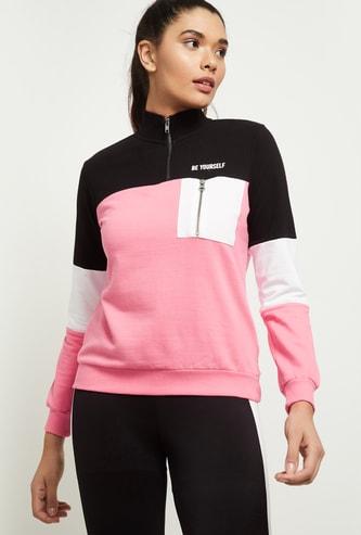 MAX Colorblocked Zip-Through Sweatshirt