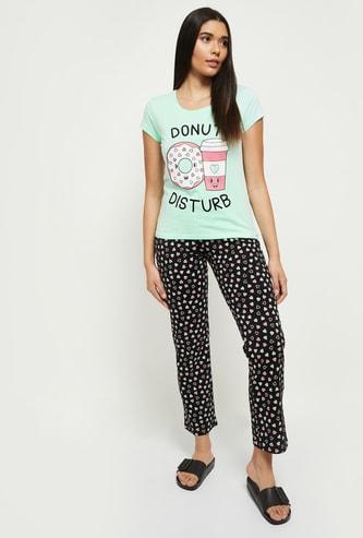 MAX Printed Lounge Pyjama with T-shirt