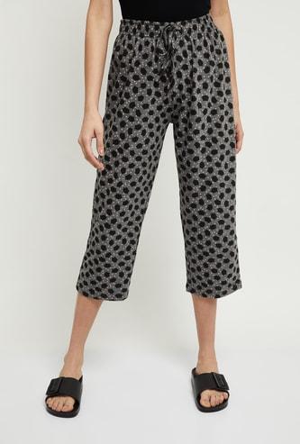 MAX Printed Elasticated Crop Lounge Pants