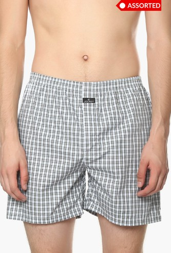 JOCKEY Checks Print Boxer - Pack of 2 - ASSORTED Colour & Design