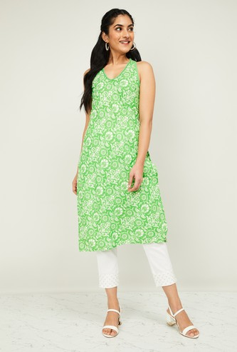 MELANGE Women Printed Straight Kurta