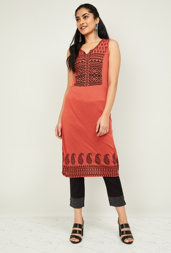 MELANGE Women Printed Sleeveless Kurta