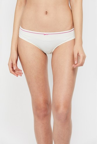 AMANTE Solid Bow Detailed Hipster Briefs