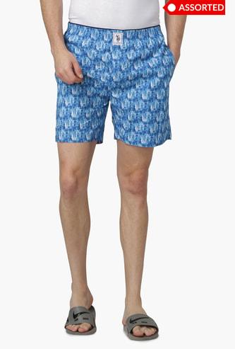 U.S. POLO ASSN Printed Woven Boxer Shorts - Assorted Colour & Design