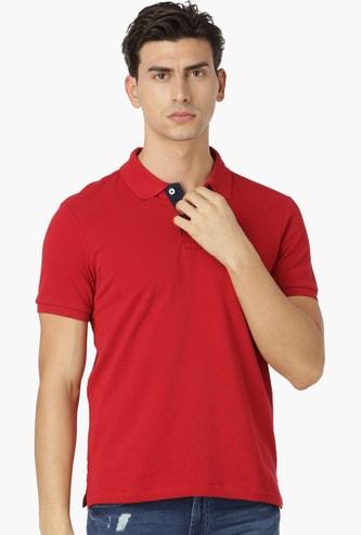 ARROW SPORT Regular Fit Solid Polo Neck T-shirt