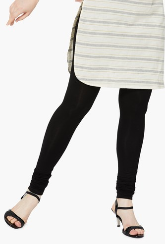 MELANGE Solid Churidar Leggings