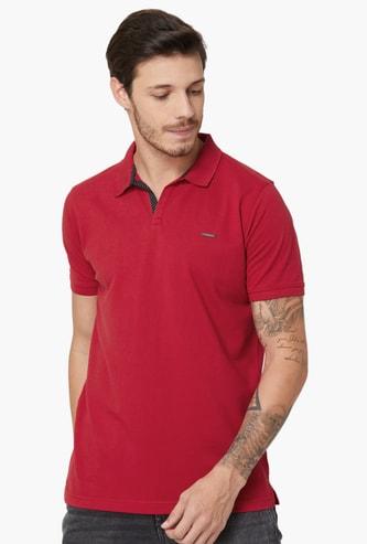 PROLINE Regular Fit Solid Polo T-shirt