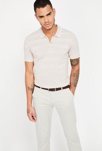 CODE Striped Polo T-shirt