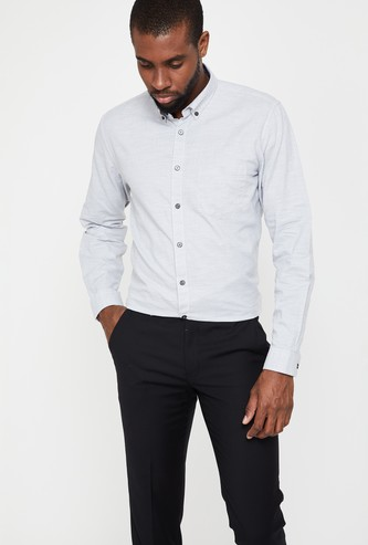 VH SPORTS Solid Slim Fit Long Sleeves Shirt