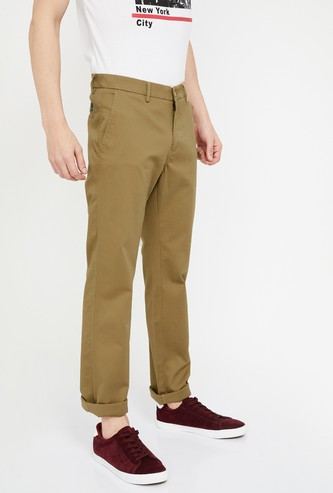 ALLEN SOLLY Solid Regular Fit Chinos