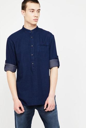 CELIO Roll-Up Sleeves Regular Fit Shirt