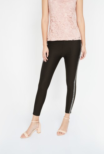 CODE Solid High-Rise Skinny Pants