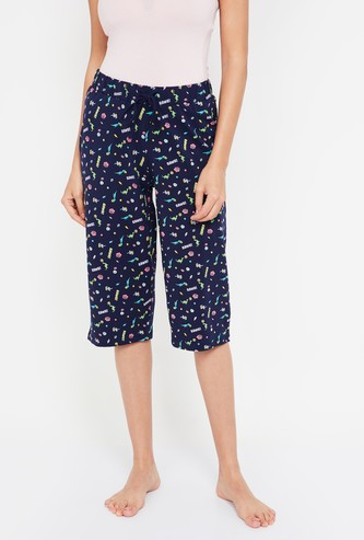 GINGER Printed Capris with Insert Pockets