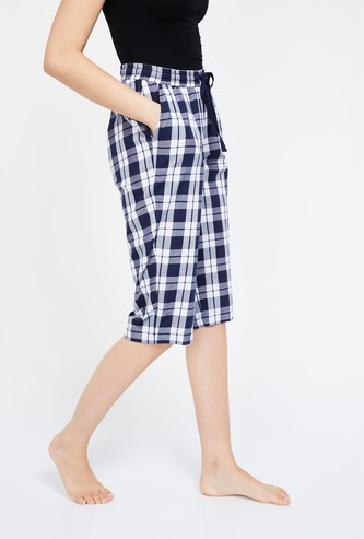 GINGER Checked 3/4th Lounge Shorts