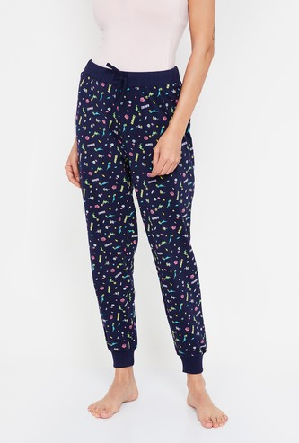 GINGER Printed Pyjamas with Drawstring Waist