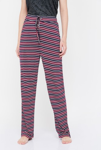 GINGER Striped Pyjamas with Drawstring Waist
