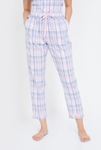 GINGER Checked Cropped Pyjamas