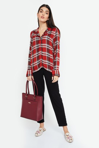 FAME FOREVER Checked Casual Shirt