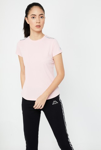 KAPPA Solid Regular Fit Kooltex Top with Mesh Panel