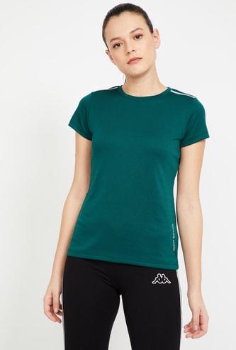 KAPPA Solid Slim Fit Kooltex Training T-shirt