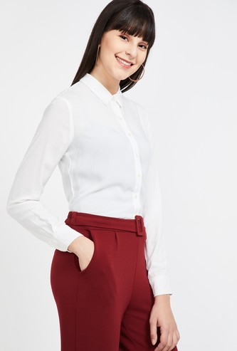 CODE Solid Regular Fit Formal Shirt