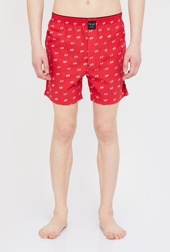 FCUK Printed Elasticated Boxers