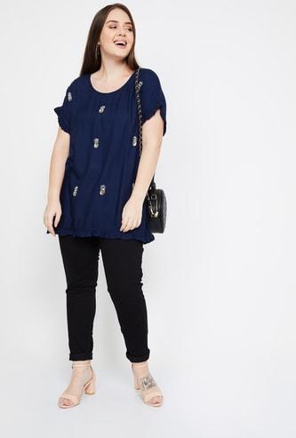 NEXUS Solid Skinny Fit Plus Size Jeans