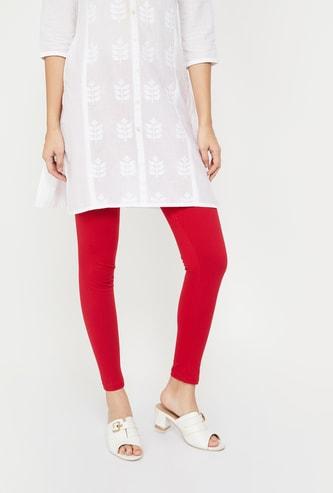 RANGRITI Solid Knitted Legings