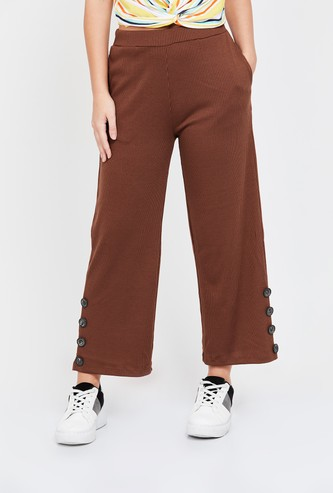 GINGER Textured Cropped Pants