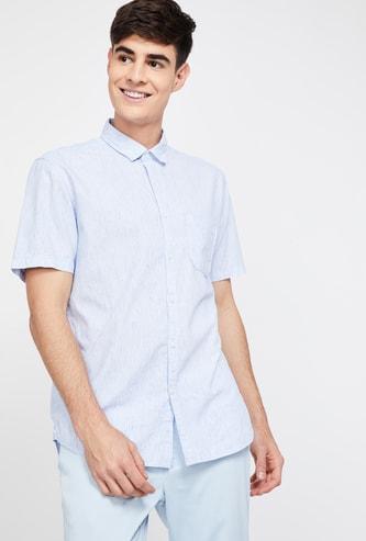 CODE Textured Regular Fit Short Sleeves Shirt