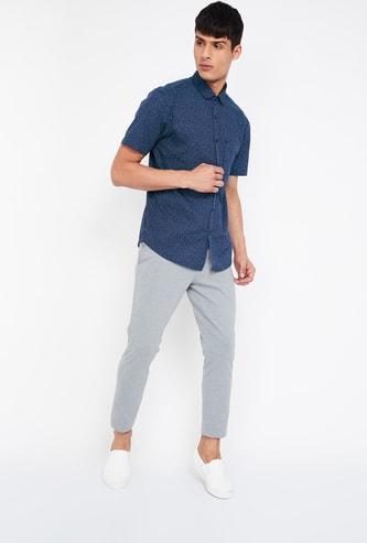 CODE Printed Regular Fit Short Sleeves Shirt